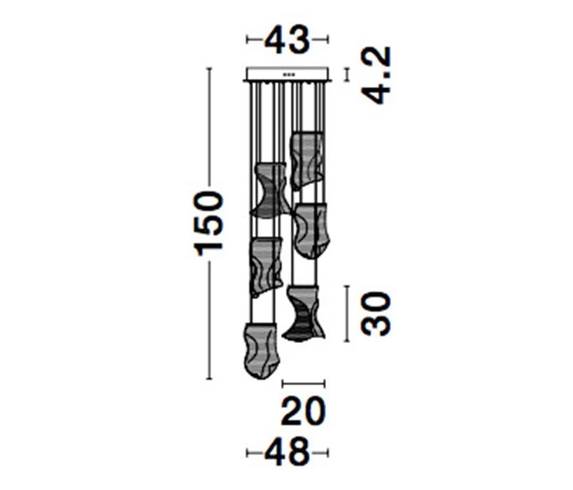 Nova Luce NL-9054442 Siderno LED függesztett lámpa