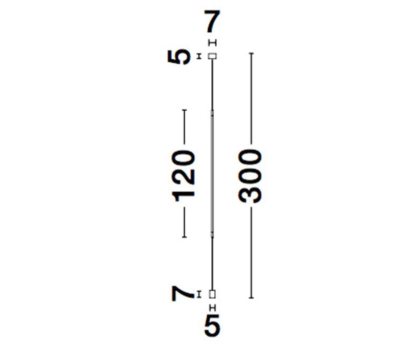 Nova Luce NL-9088109 Elettra LED függesztett lámpa