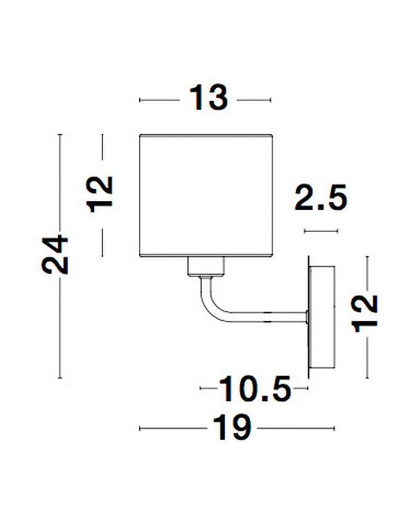 Nova Luce NL-9151401 Bitonto falikar