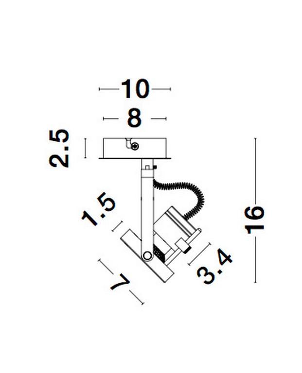 Nova Luce NL-9155101 Salva spotlámpa