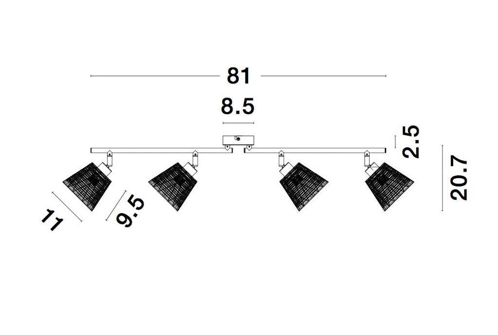 Nova Luce NL-9155424 Sion spotlámpa