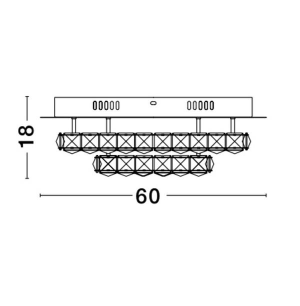 Nova Luce NL-9172519 Quentin LED kristály mennyezeti lámpa
