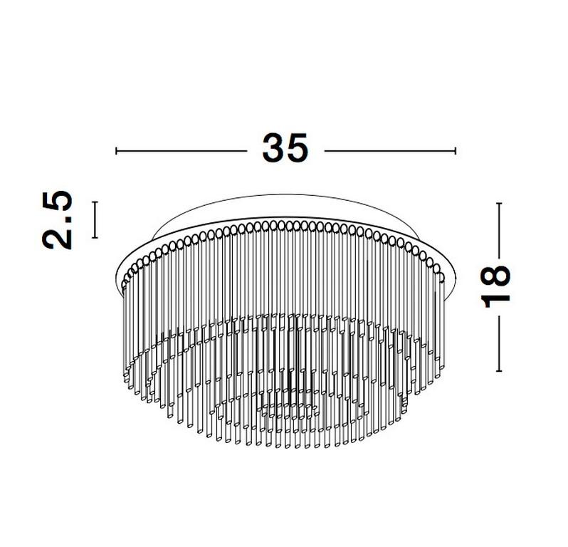 Nova Luce NL-9180891 Rosarno mennyezeti lámpa