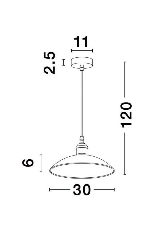 Nova Luce NL-9181300 Sangro függesztett lámpa