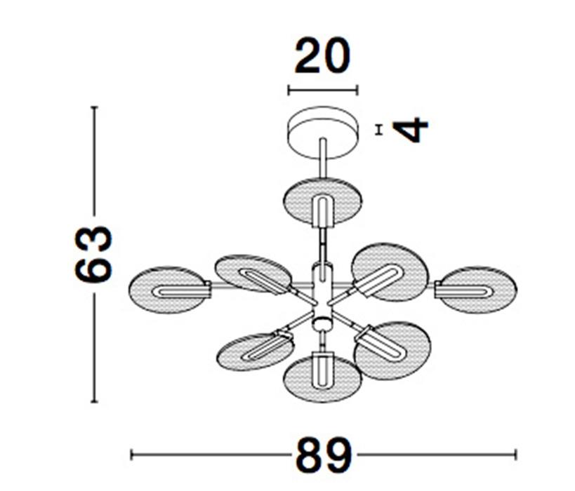 Nova Luce NL-9545408 Genti LED függesztett lámpa