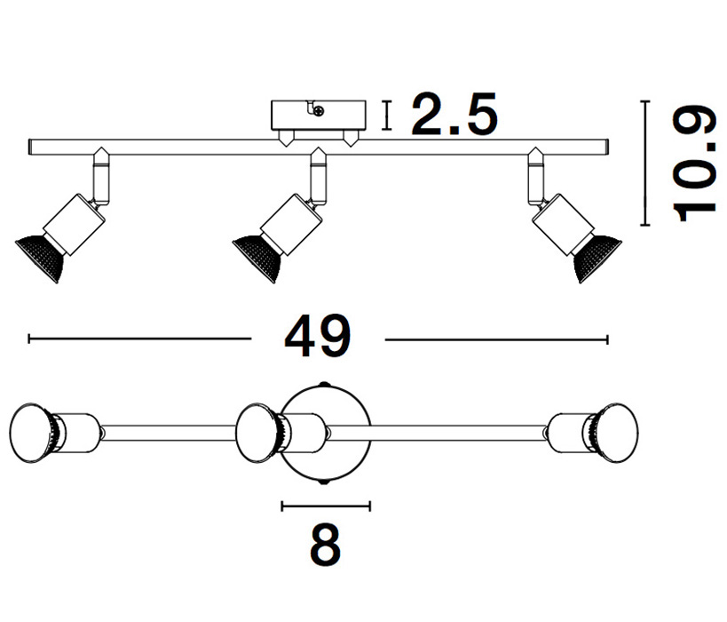 Nova Luce NL-960003 Lup spotlámpa