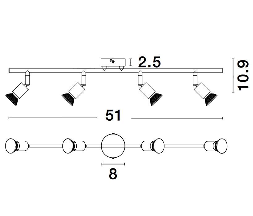 Nova Luce NL-960004 Lup spotlámpa