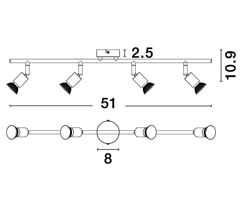 Nova Luce NL-960008 Lup spotlámpa