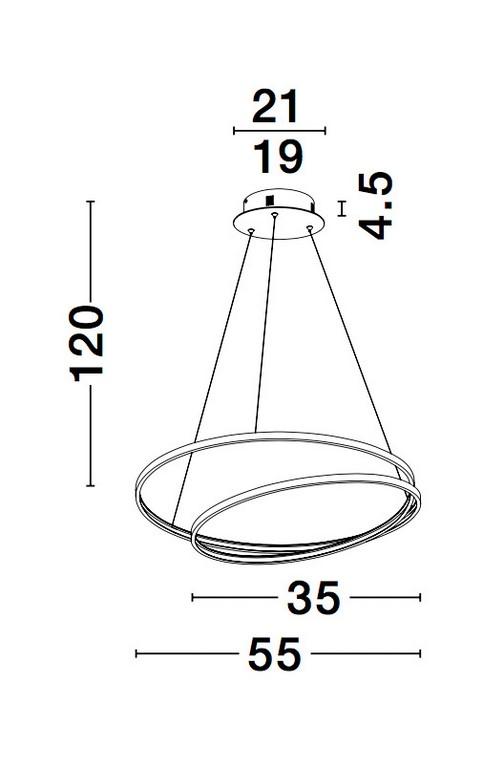 Nova Luce NL-9818510 Grania LED függesztett lámpa