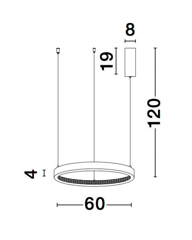 Nova Luce NL-9865160 Preston LED függesztett lámpa