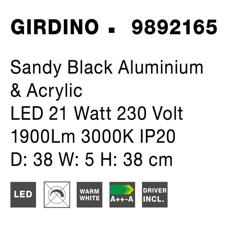 Nova Luce NL-9892165 Girdino LED fali lámpa
