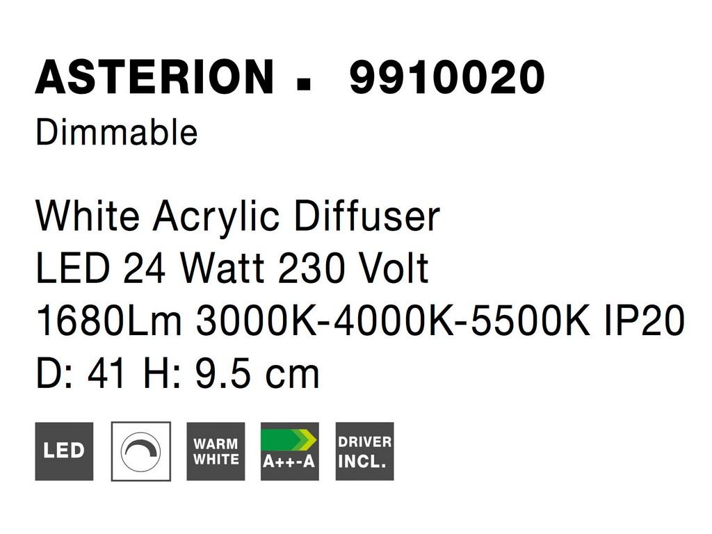Nova Luce NL-9910020 Asterion LED mennyezeti lámpa