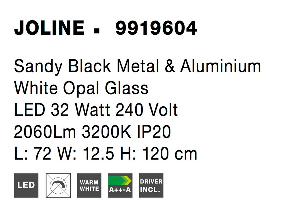 Nova Luce NL-9919604 Joline LED függesztett lámpa