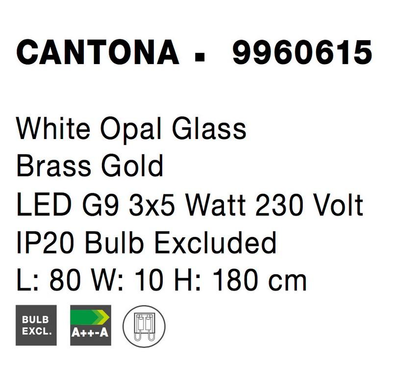 Nova Luce NL-9960615 Cantona függesztett lámpa