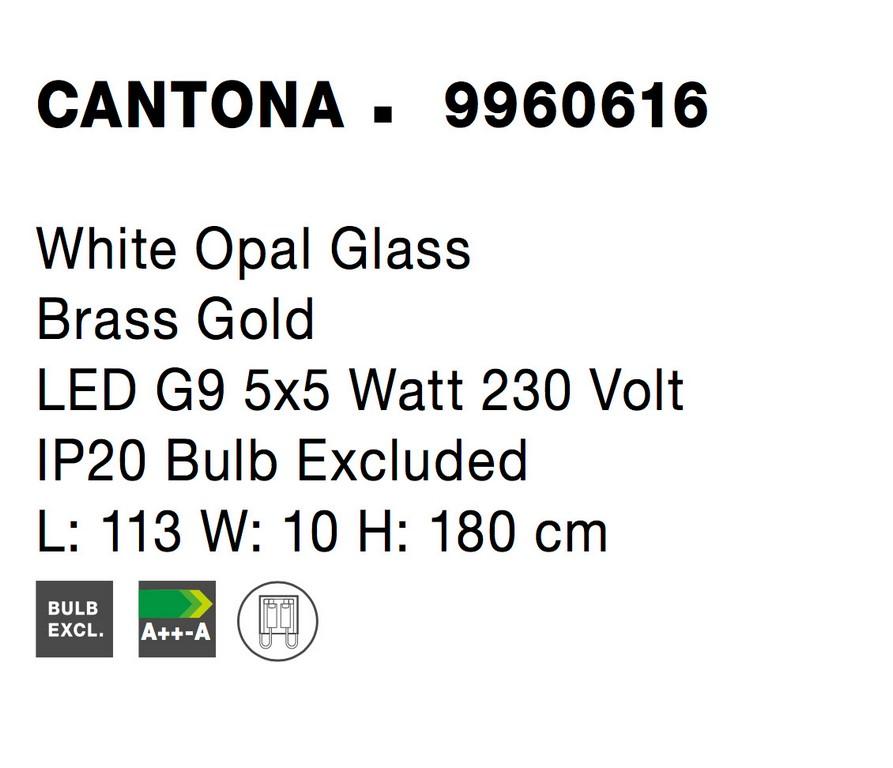 Nova Luce NL-9960616 Cantona függesztett lámpa