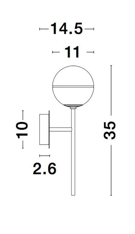 Nova Luce NL-9960617 Cantona falikar