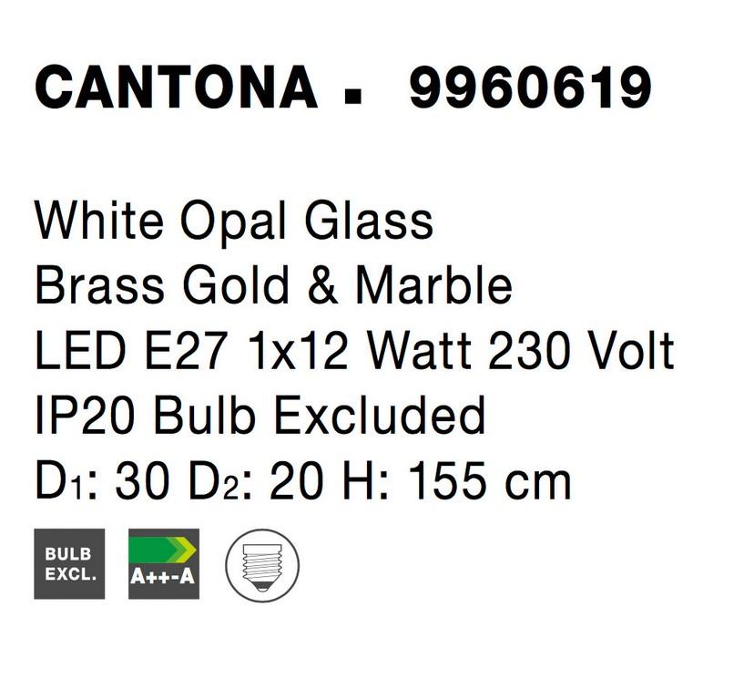 Nova Luce NL-9960619 Cantona állólámpa