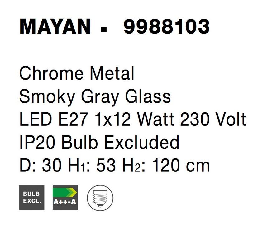 Nova Luce NL-9988103 Mayan függesztett lámpa