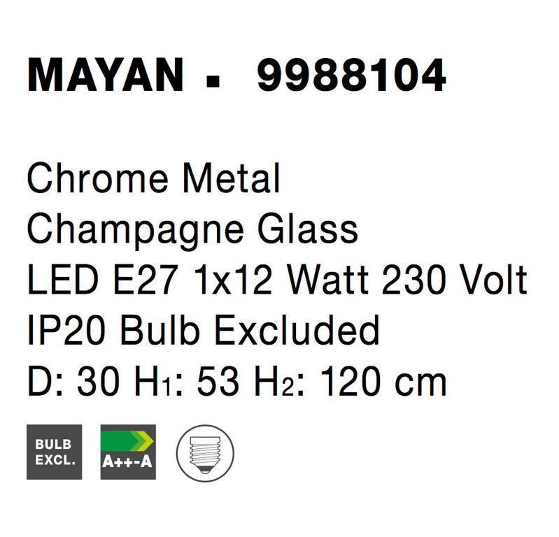 Nova Luce NL-9988104 Mayan függesztett lámpa