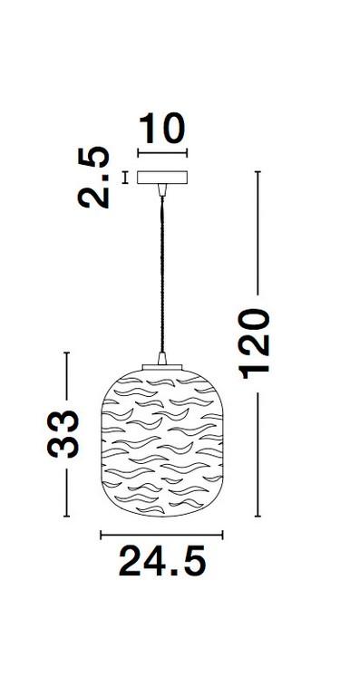 Nova Luce NL-9988246 Ficato függesztett lámpa