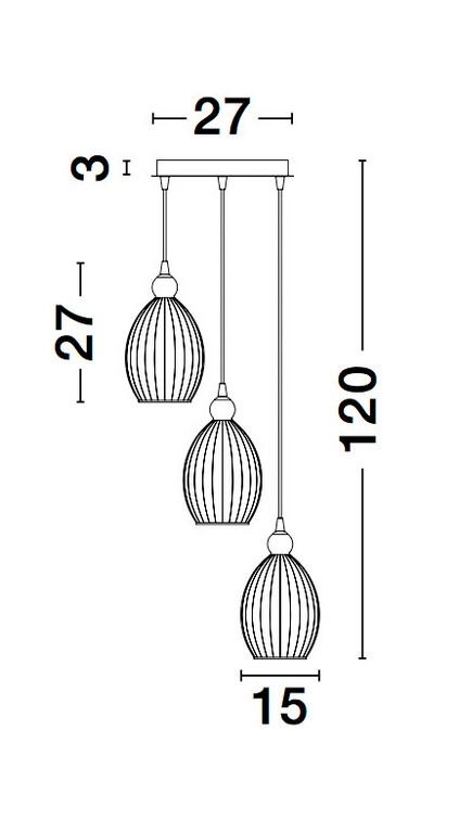Nova Luce NL-9988382 Lingua függesztett lámpa