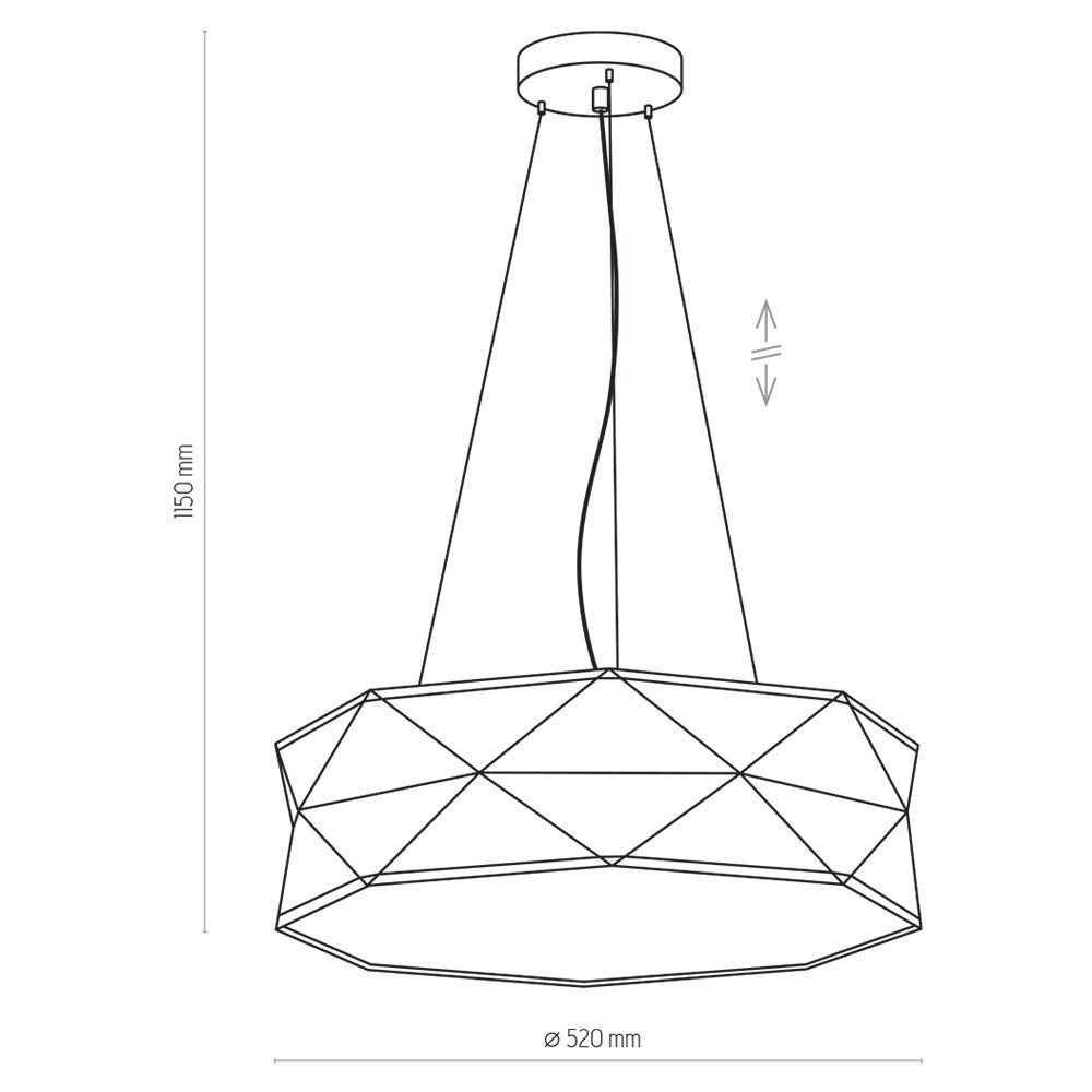 TK Lighting TK-3169 Kantoor függesztett lámpa