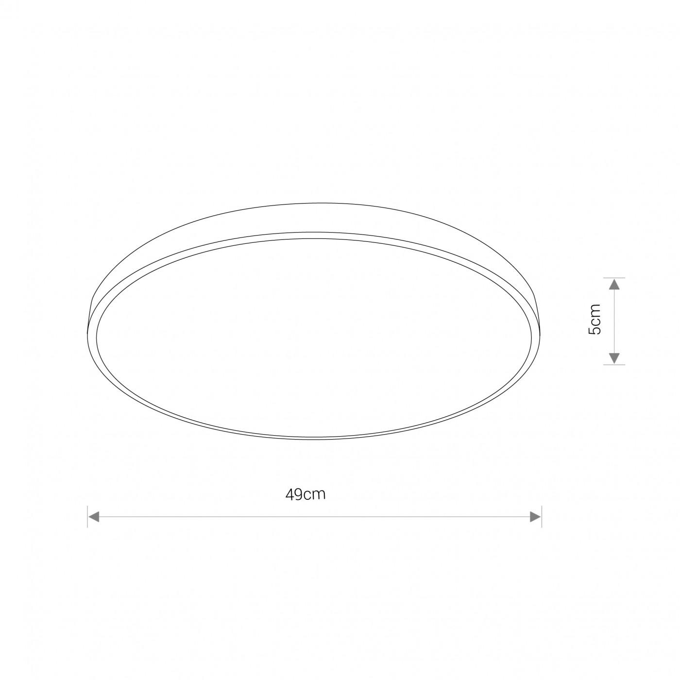 Nowodvorski TL-8187 Agnes Round LED víz-védett mennyezeti lámpa