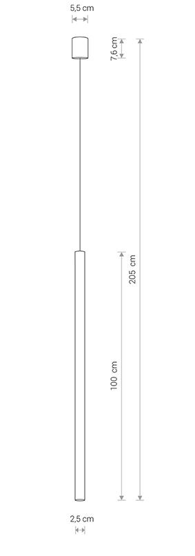 Nowodvorski TL-8436 Laser függesztett lámpa