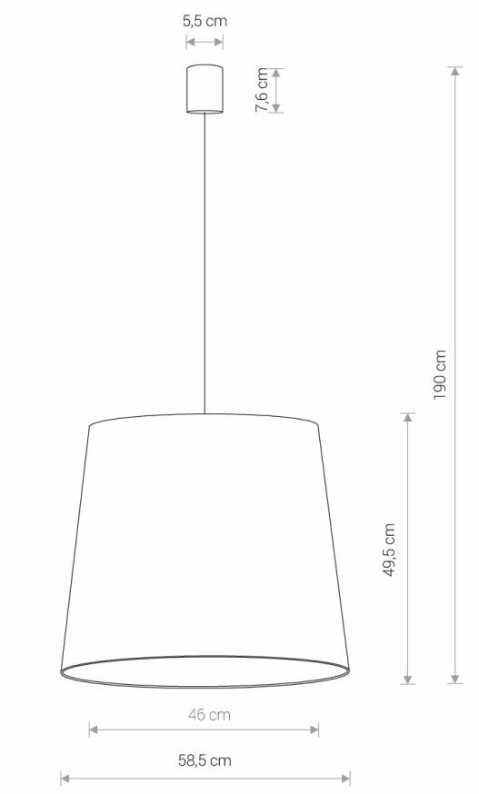 Nowodvorski TL-8437 Cone függesztett lámpa