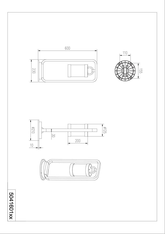 Trio 504160124 Sambesi kültéri állólámpa