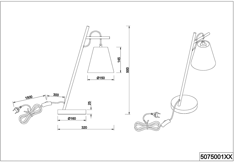 Trio 507500189 Andreus asztali lámpa