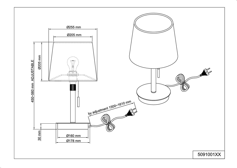 Trio 509100108 Lyon asztali lámpa