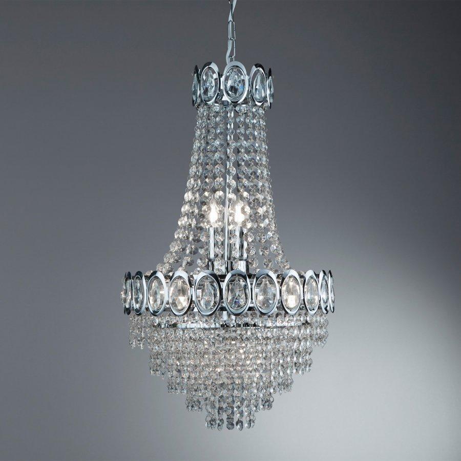 Searchlight Crystal 1611-6CC kristály lámpa függeszték