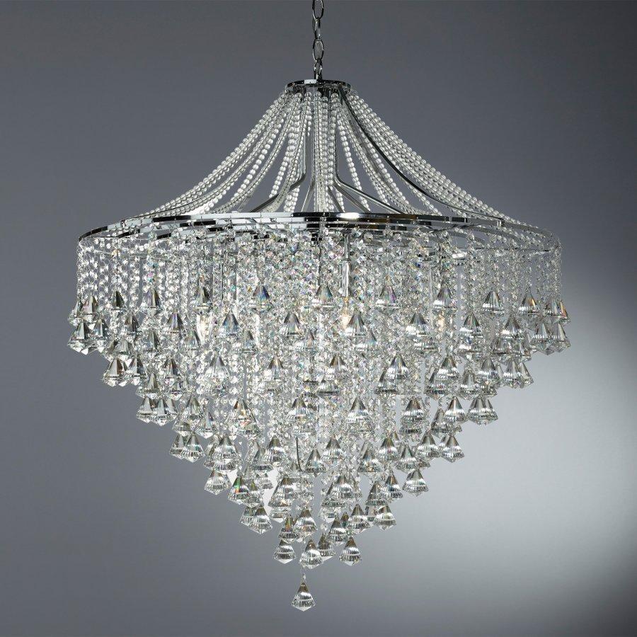 Searchlight Crystal 3497-7CC kristály lámpa függeszték