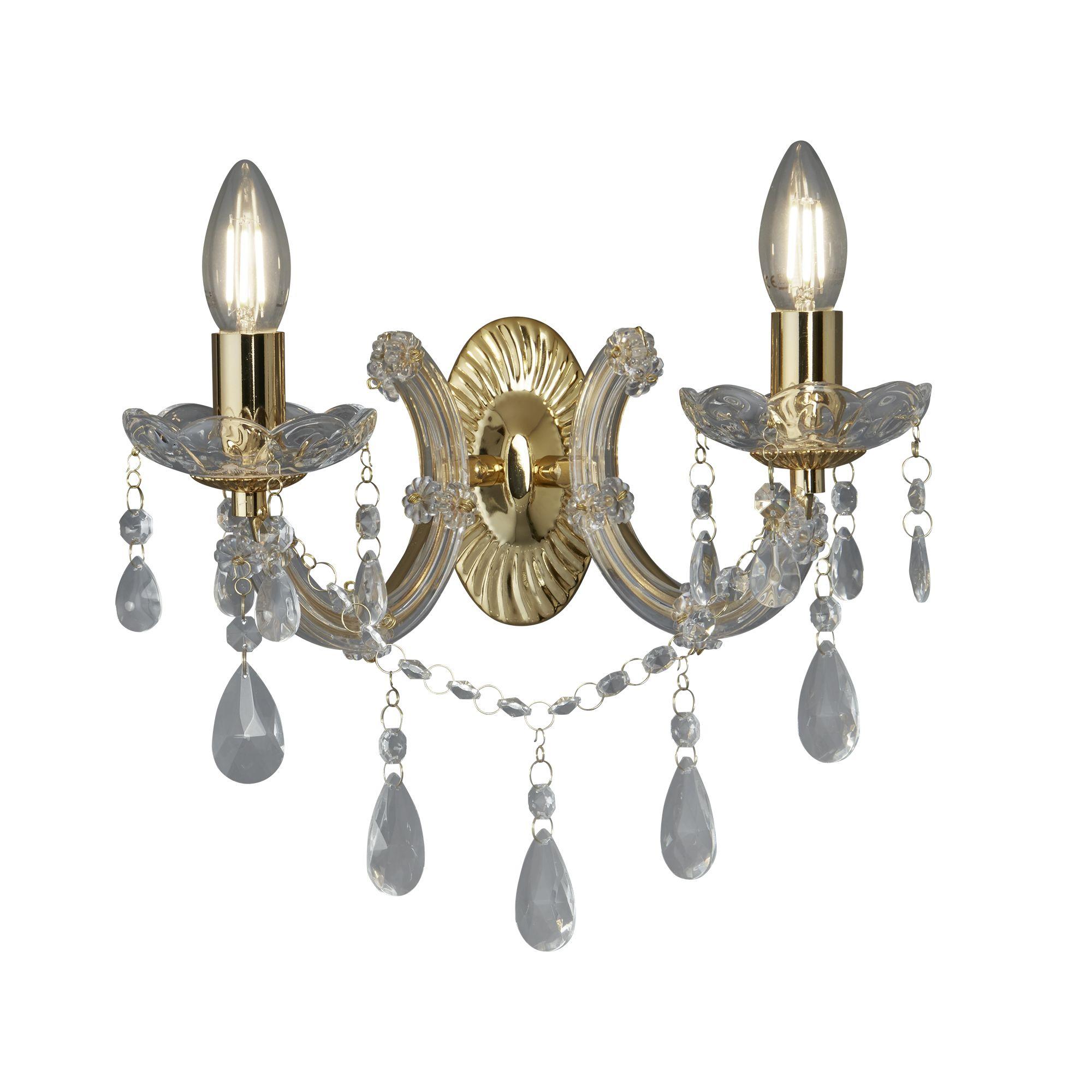 Searchlight Marie Therese 699-2 kristály falikar lámpa