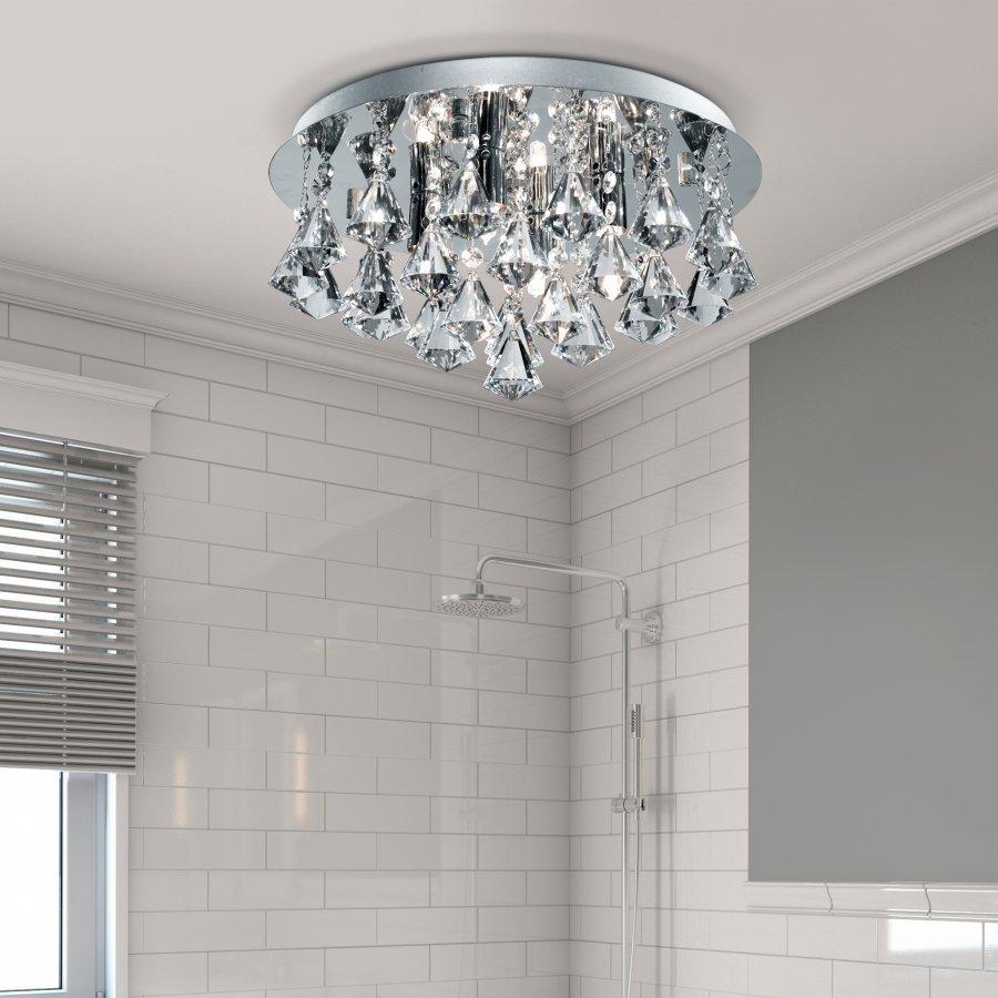 Searchlight Bathroom 2204-4CC fürdőszobai kristály mennyezeti lámpa